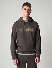Napapijri - BALLAR H - sweats à capuche - dark grey solid - 0