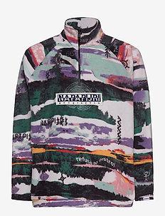 T-REVONTULET - mid layer jackets - white aop f1m