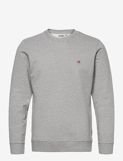 BALIS CREW - knitted round necks - med grey melange