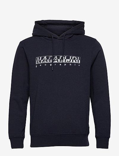 BALLAR H - sweats à capuche - blue marine