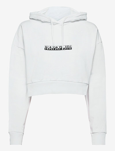 B-BOX CROPPED H S - sweatshirts en hoodies - bright white
