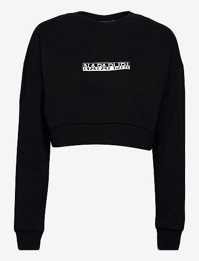 B-BOX CROPPED C S - navel shirts - black
