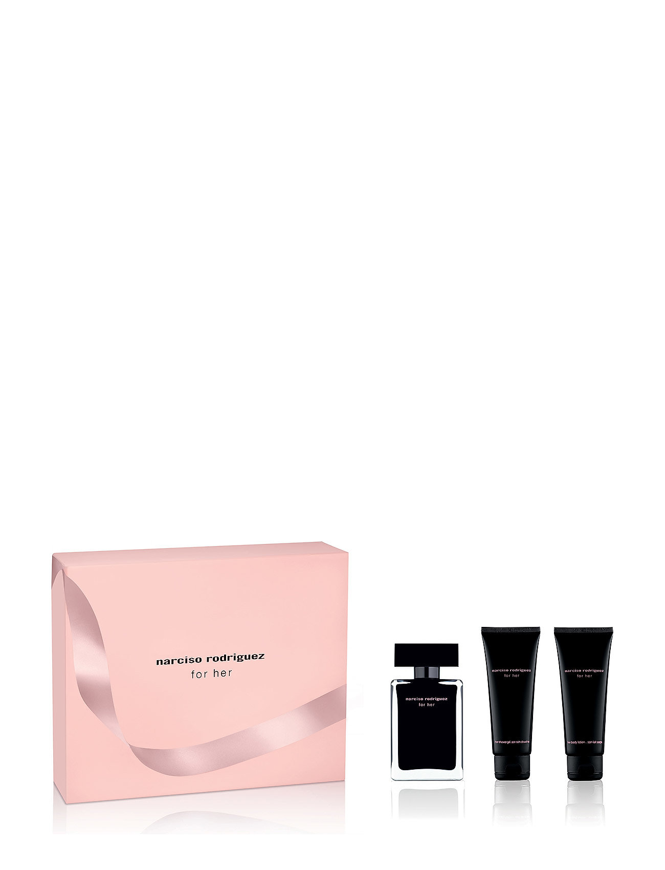 Narciso Rodriguez FOR HER EDT 50/BODY LOTION75/SHOWER GEL 75ML - NO COLOR