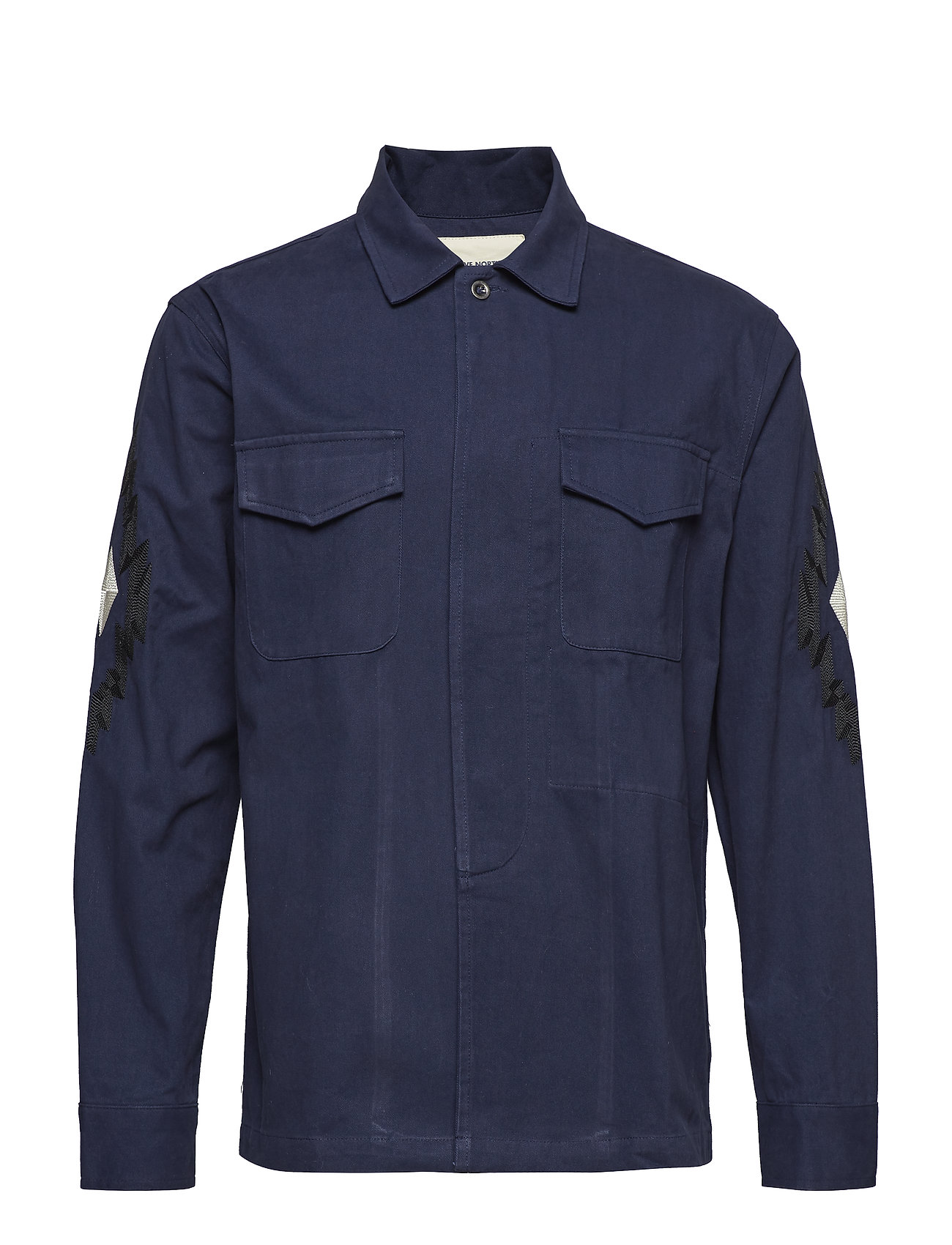 Native North FIELD THISTLE OVERSHIRT - NAVY
