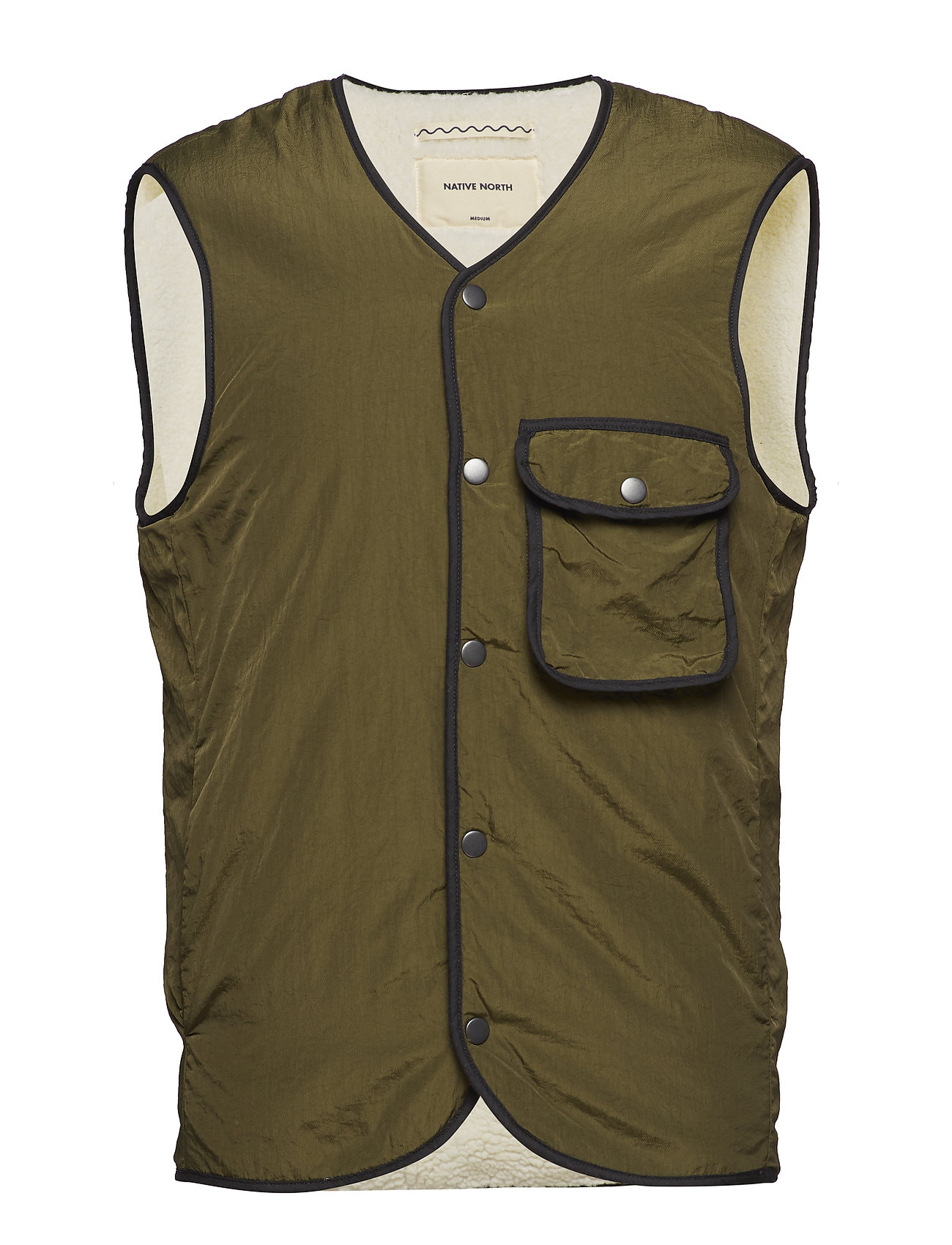 Native North TEDDY POCKET VEST - GREEN