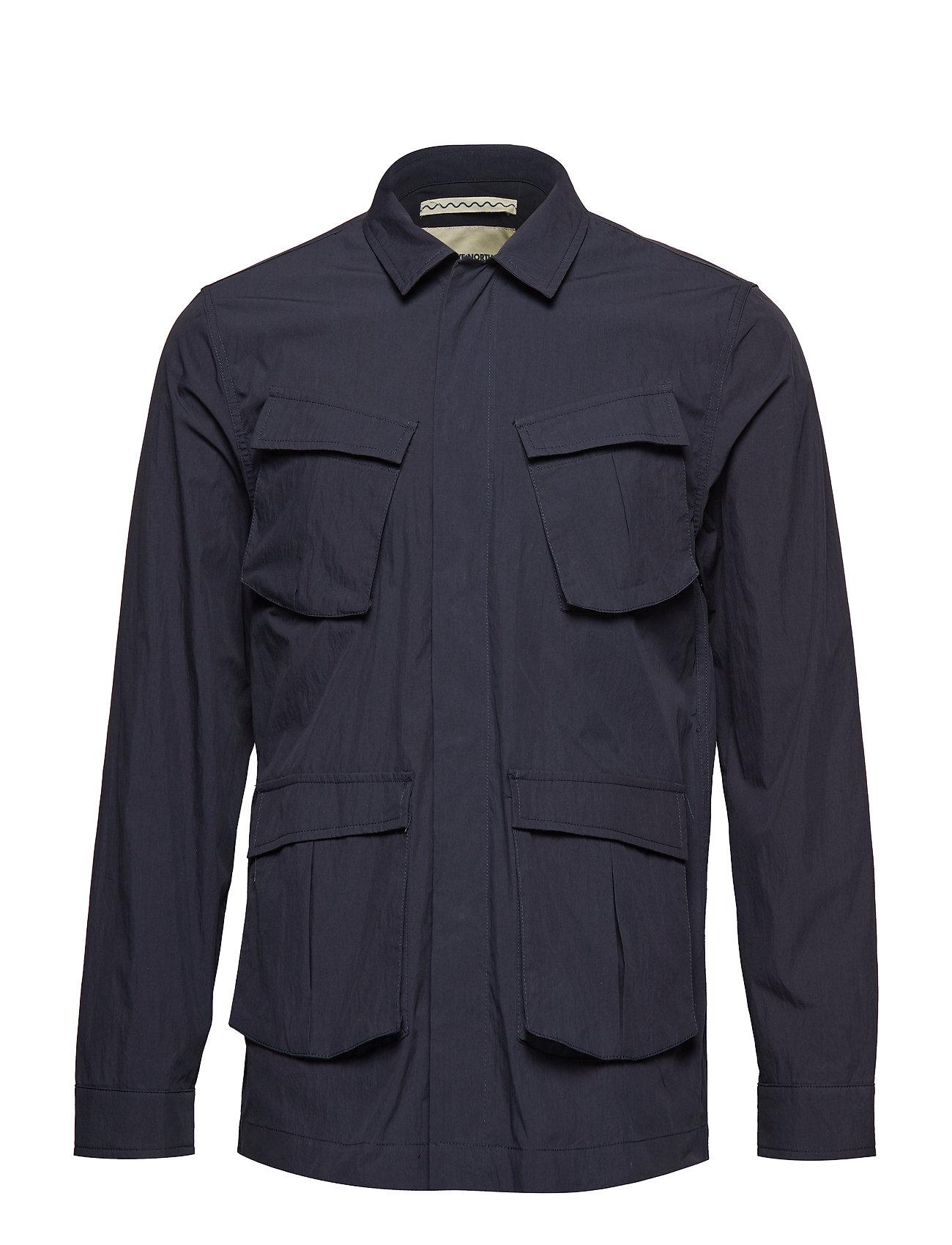 Image of Thorvald Paper Jacket Overshirt Blå Native North (3127175161)