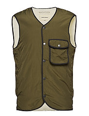 TEDDY POCKET VEST - GREEN
