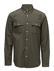 COTTON RIPSTOP SHIRT - OLIVE