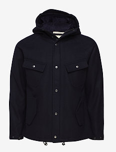 WOOL BASE PARKA - NAVY