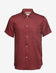JAPANESE TENCEL SHIRT - BURNT RED