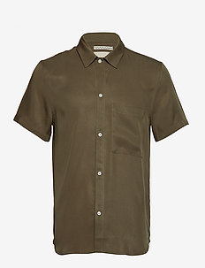 JAPANESE TENCEL SHIRT - kortærmede skjorter - olive
