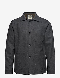 WOOL UTILITY JACKET - GREY