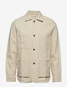 TWILL WORKMEN JACKET - BEIGE