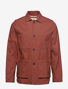 TWILL WORKMEN JACKET - BURNT RED