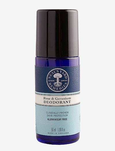 Rose & Geranium deodorant - deo roll-on - no colour