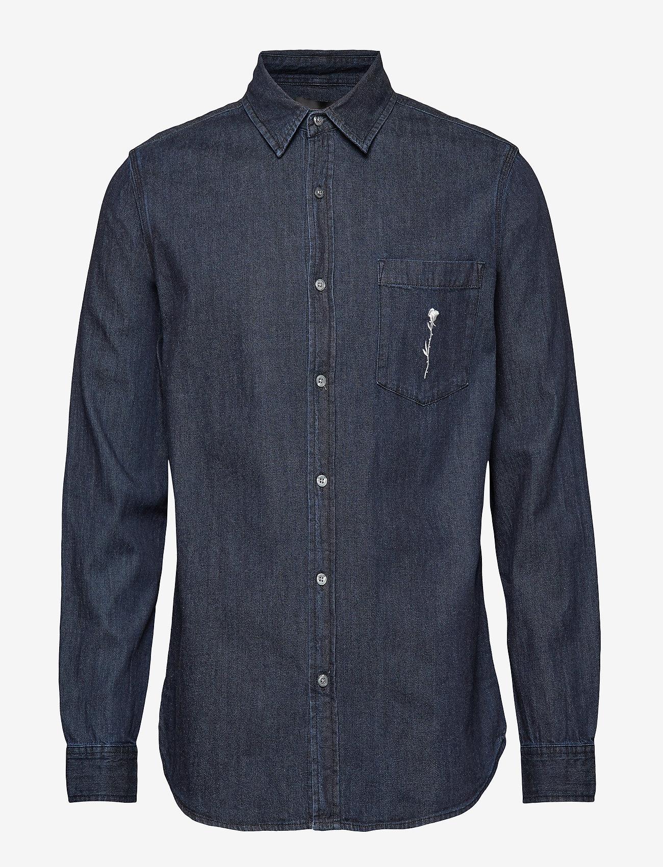 NEUW - Waits Denim BR Shirt - farkkupaidat - zero dark