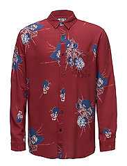 Floral L/S Shirt - RED