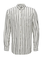Stripe L/S Shirt - WHITE