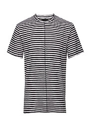 Regular Recut Stripe Tee - BLACK & WHITE STRIPE