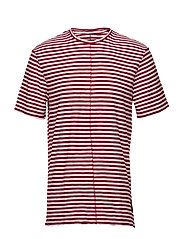 Regular Recut Stripe Tee - RED & WHITE STRIPE