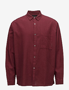 Relaxed L/S Shirt - linneskjortor - red