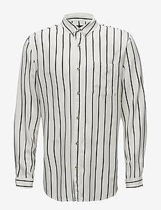 Stripe L/S Shirt - WHITE