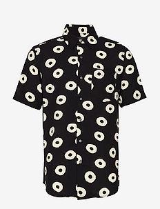 POLYMER SS SHIRT - kortärmade skjortor - black