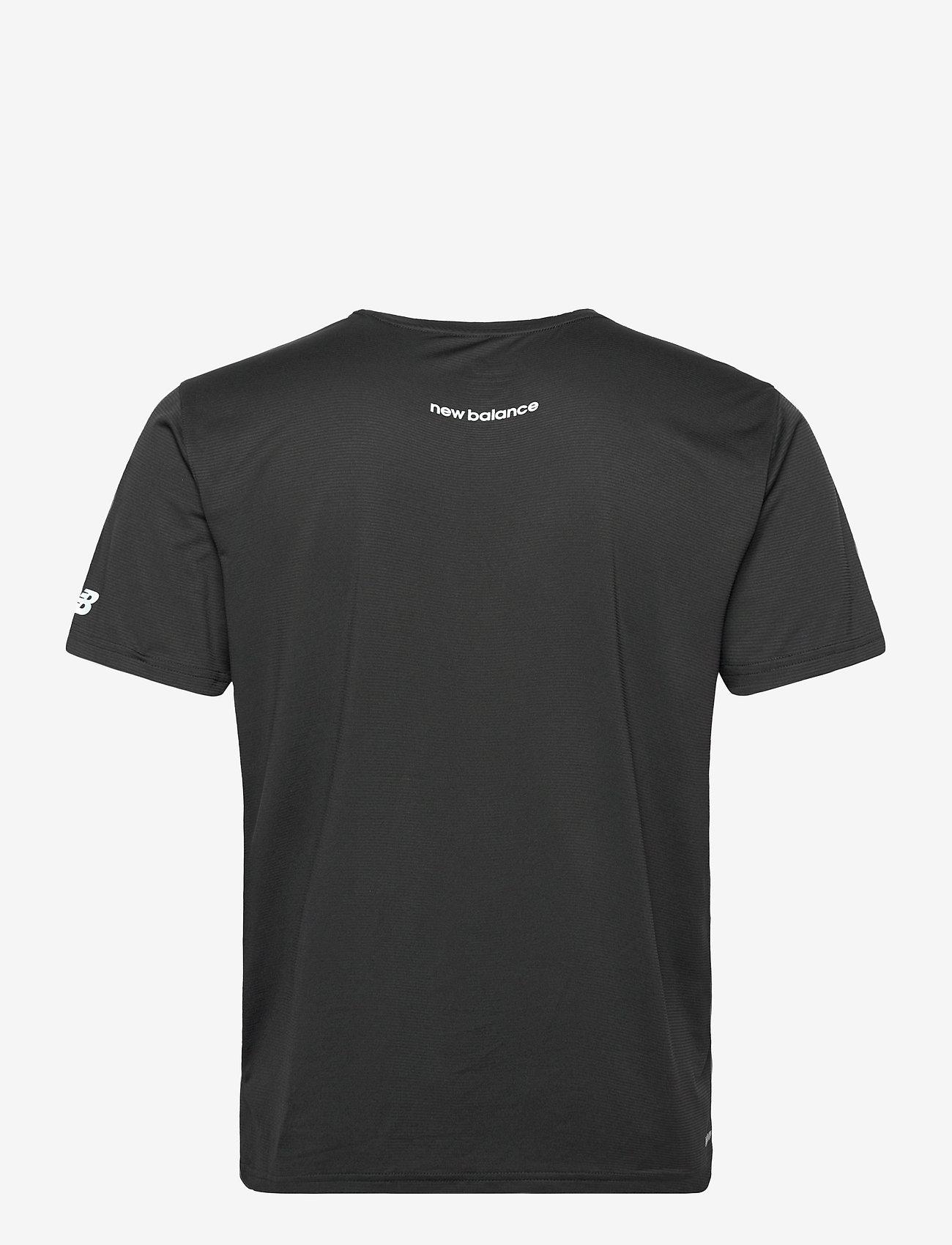 New Balance - Printed Accelerate Short Sleeve - sportoberteile - black - 1