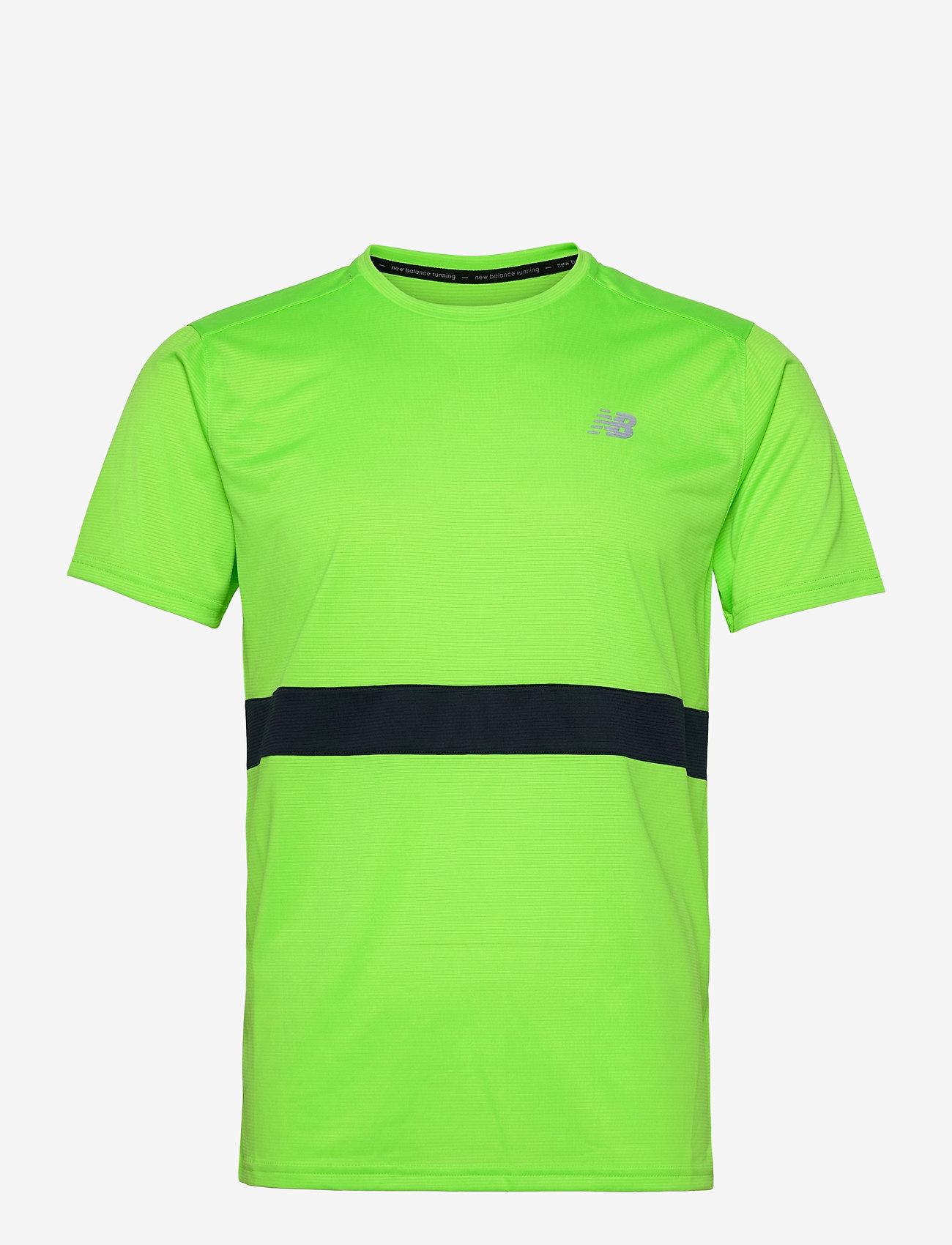 New Balance - Striped Accelerate Short Sleeve - sportoberteile - energy lime - 0