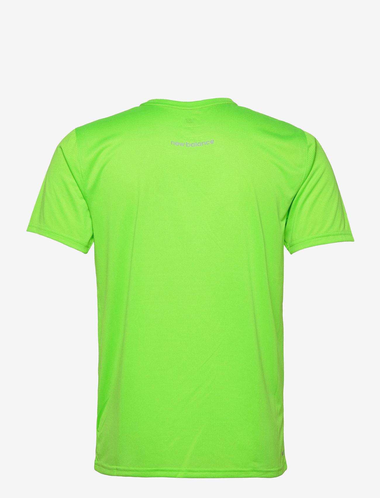 New Balance - Striped Accelerate Short Sleeve - sportoberteile - energy lime - 1