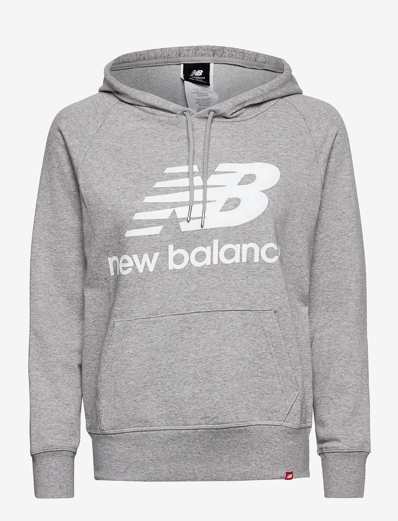 New Balance - ESSENTIALS PULLOVER HOODIE - hupparit - athletic grey - 0