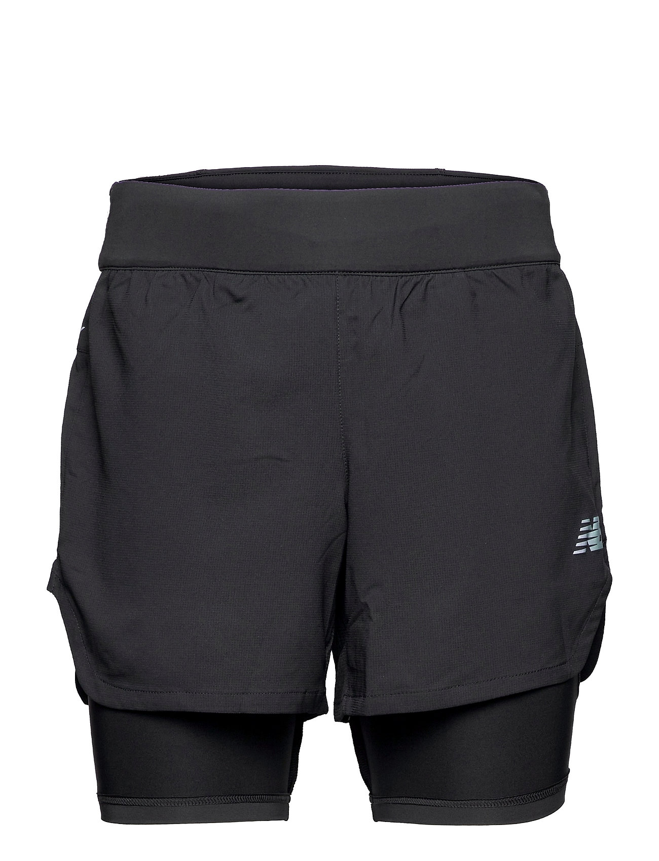 Q Speed Fuel 2 In 1 5 Inch Short Shorts Sport Shorts Sort New Balance