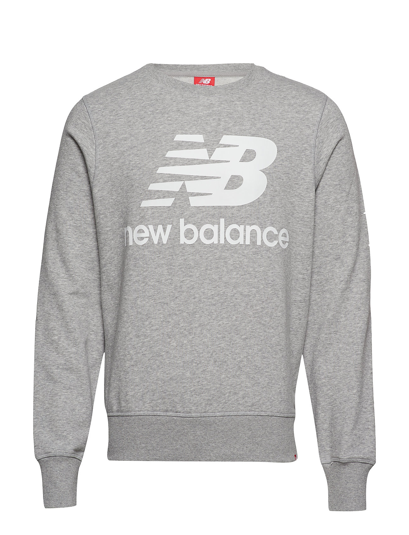New Balance ESSENTIALS STACKED LOGO CREW - ATHLETIC GRE