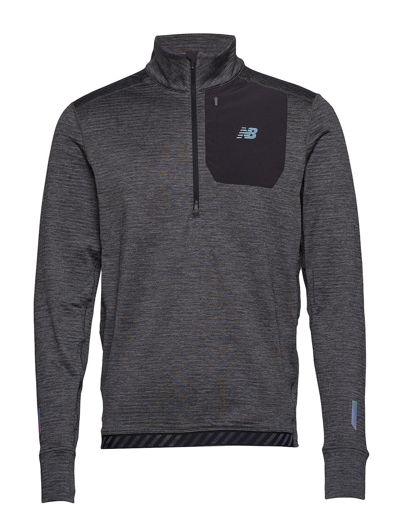 NEW BALANCE Nb Heat Qtr Zip Sweat-shirt Pullover Grau NEW BALANCE