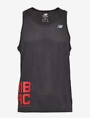 New Balance - PRINTED IMPACT RUN SINGLET - tank tops - bk/red - 0