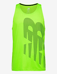 New Balance - Printed Accelerate Singlet - tank tops - energy lime - 0