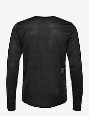 New Balance - Q SPEED FUEL JACQUARD LS - langarmshirts - black heather - 1