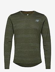 New Balance - Q SPEED FUEL JACQUARD LS - langarmshirts - oak green heather - 0