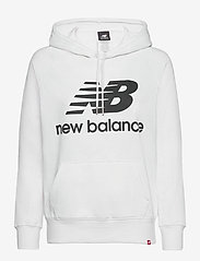 New Balance - ESSENTIALS PULLOVER HOODIE - hupparit - white black - 0