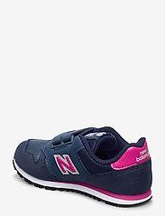 New Balance - YV373AB - baskets basses - navy/pink - 2