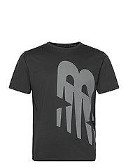 Printed Accelerate Short Sleeve - BLACK