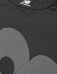 New Balance - Printed Accelerate Short Sleeve - sportoberteile - black - 2