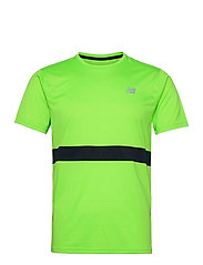 Striped Accelerate Short Sleeve - ENERGY LIME