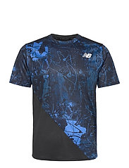 Printed Fast Flight Short Sleeve - BLACK/COBALT BLUE