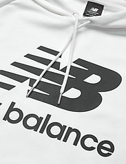 New Balance - ESSENTIALS PULLOVER HOODIE - hupparit - white black - 2