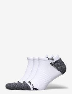 NO SHOW RUN SOCK 3 PAIR - chaussette de cheville - white