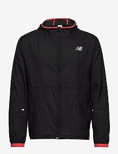 PRINTED IMPACT RUN LIGHT PACK JACKET - training jackets - bk/red