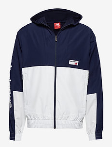 NB ATHLETICS WINDBREAKER - PIGMENT