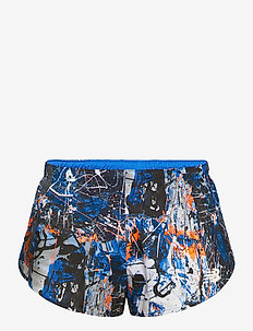PRINTED 3IN SPLIT SHORT - trainingsshorts - blue with white