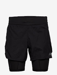 Q SPEED 5IN 2 IN 1 SHORT - treningsshorts - black
